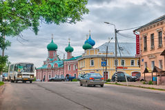 Tikhvin. Russia. Karl Marks Street Royalty Free Stock Photography