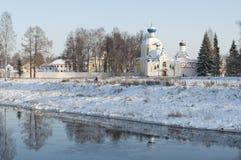 Tikhvin, Russia. Tikhvin Mother of God Dormition Orthodox monast Royalty Free Stock Photo
