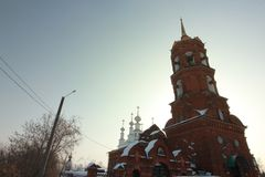 Tikhvin-Tempel Kungur-Stadt, Dauerwelleregion, Russland stockfotografie