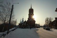 Tikhvin-Tempel Kungur-Stadt, Dauerwelleregion, Russland stockbilder