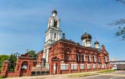 Tikhvin Theotokos的教会在Noginsk -莫斯科地区,俄罗斯 免版税库存照片