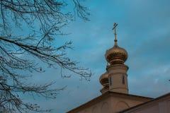 Tikhvin wniebowzięcia monasteru spadek 2018, Prawosławny, Tihvin, Świątobliwy Petersburg region, Rosja zdjęcie stock