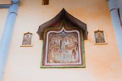 Tikhvin wniebowzięcia monasteru spadek 2018, Prawosławny, Tihvin, Świątobliwy Petersburg region, Rosja zdjęcie royalty free