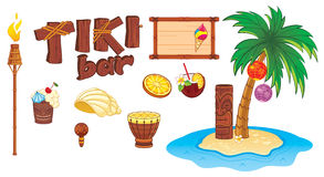 Tiki art objects Stock Images