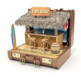 Tiki bar in the case. Tiki bar in the old case - 3D illustration Stock Photography