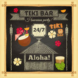 Tiki Bar Hawaii Chalkboard Fotografia de Stock