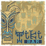 Tiki bar sign. Background seamless pattern separate layers Royalty Free Stock Photography