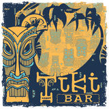 Tiki bar sign. Background seamless pattern separate layers Royalty Free Stock Photos