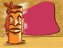 Tiki Bar style poster design Royalty Free Stock Photo