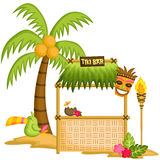Tiki Bar. A vector of a tiki bar Stock Photography