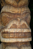 Tiki Carved Face arkivfoton