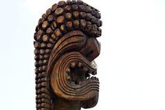Tiki di legno Fotografia Stock
