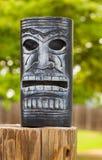 Tiki face lantern royalty free stock photography
