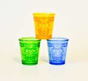 Tiki glasses. Royalty Free Stock Photography