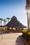 Tiki Hütte und Stab, die Cortez Meer übersehen Lizenzfreies Stockbild