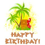 Tiki happy birthday Royalty Free Stock Photos