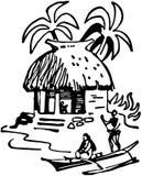 Tiki Hut royalty free illustration