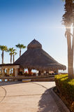 Tiki Hut and Bar overlooking Cortez Sea Royalty Free Stock Image