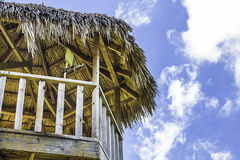 Tiki Hut Tower Royaltyfria Bilder