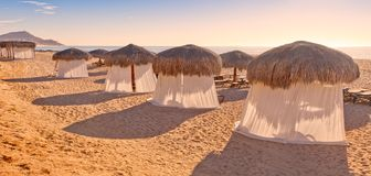 Tiki Huts and Massage Tents Stock Photography