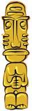 Tiki Idol 02. Art work in line art technique for a cartoon Tiki Idol Royalty Free Stock Image