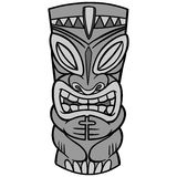 Tiki Illustration. A vector illustration of a Tiki Royalty Free Stock Photos