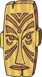 Tiki Mask. Graphic illustration line-art for a Tiki Mask vector illustration