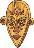 Tiki Mask. Graphic illustration line-art for a Tiki Mask stock illustration