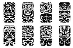 Tiki Mask. Easy to edit vector illustration of tiki mask