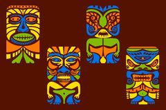 Tiki Mask Royalty Free Stock Images