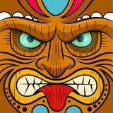 Tiki Mask de cara cuadrada Imagen de archivo libre de regalías
