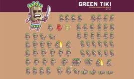 Tiki Mask Game Character Animation Sprite illustration de vecteur