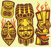 Tiki Masks Royalty Free Stock Photo