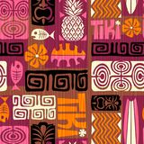 Tiki Pattern exótico inconsútil Ilustración del vector libre illustration