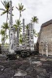 Tiki of Puuhonua o honaunau, Hawaii Royalty Free Stock Images