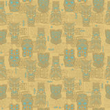 Tiki seamless pattern. For your business Stock Photo