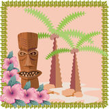 Tiki statue Royalty Free Stock Photography