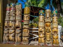 Tiki statues Stock Image