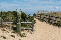 Tiki sulla spiaggia a Sandbridge Immagini Stock Libere da Diritti