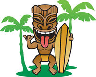 Tiki Surfer Foto de Stock