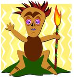 Tiki with a Torch Stock Images