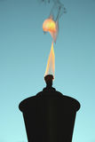 Tiki Torch silhouette Stock Photo