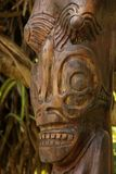 Tiki. A wooden Tiki on the island of Nuku Hiva, Marquesas Islands, French Polynesia Stock Image
