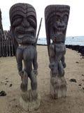 Tikis en Hawaï Images libres de droits