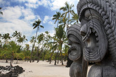Tikis hawaïen Photographie stock