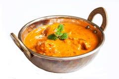 Tikka indiano Masala del pollo in Kadai Fotografia Stock Libera da Diritti