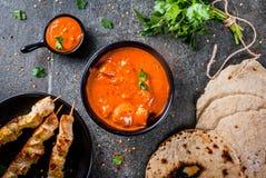 Tikka masala, masło kurczaka curry Obraz Royalty Free