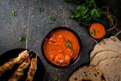 Tikka masala, masło kurczaka curry Fotografia Stock