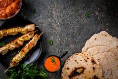 Tikka masala, masło kurczaka curry Fotografia Royalty Free