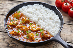 Tikka masala traditional Indian butter chicken spicy meat food Royalty Free Stock Photos